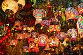 Lamps on sale in bazaar