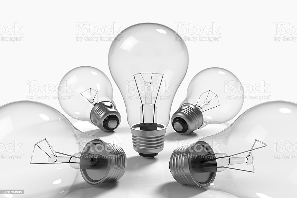 Lamps on white background royalty-free stock photo