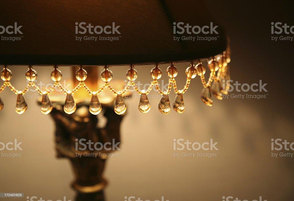 lampshade beading stock photo