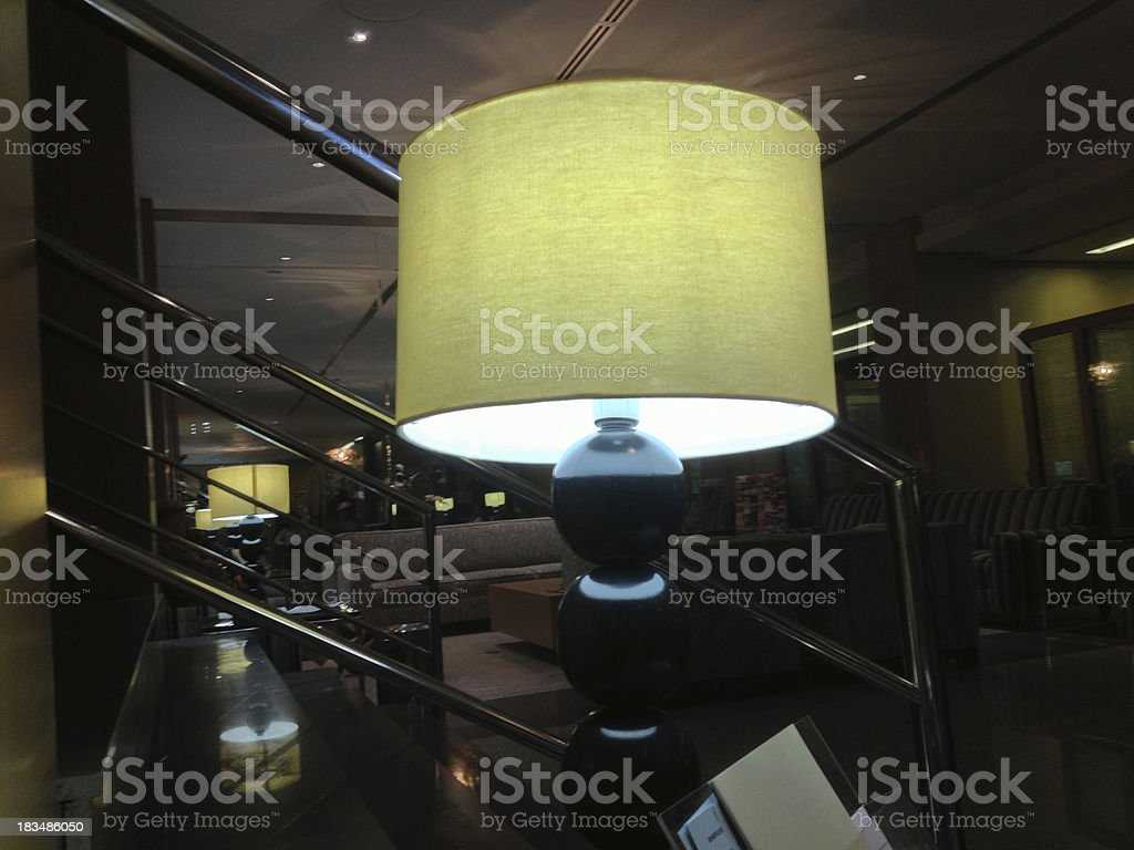 lampshade Reception of Hotel royalty-free stock photo