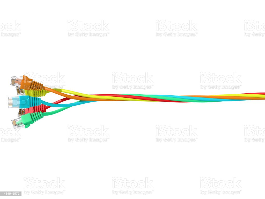 Lan Cables stock photo