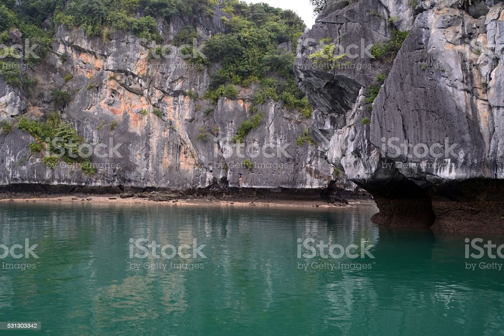 Lan Ha bay karst formations, Vietnam stock photo