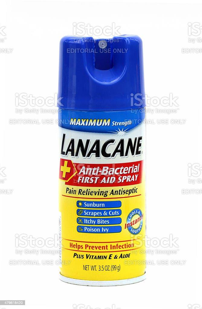 Lanacane Antibacterial first aid spray stock photo