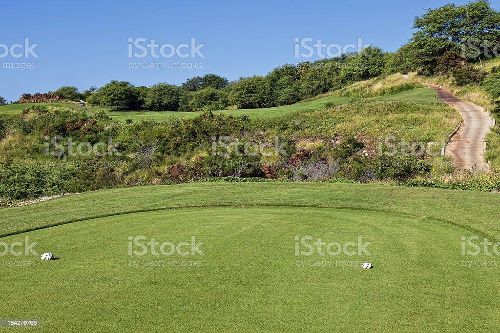 Lanai Hawaii Golf Landscape stock photo