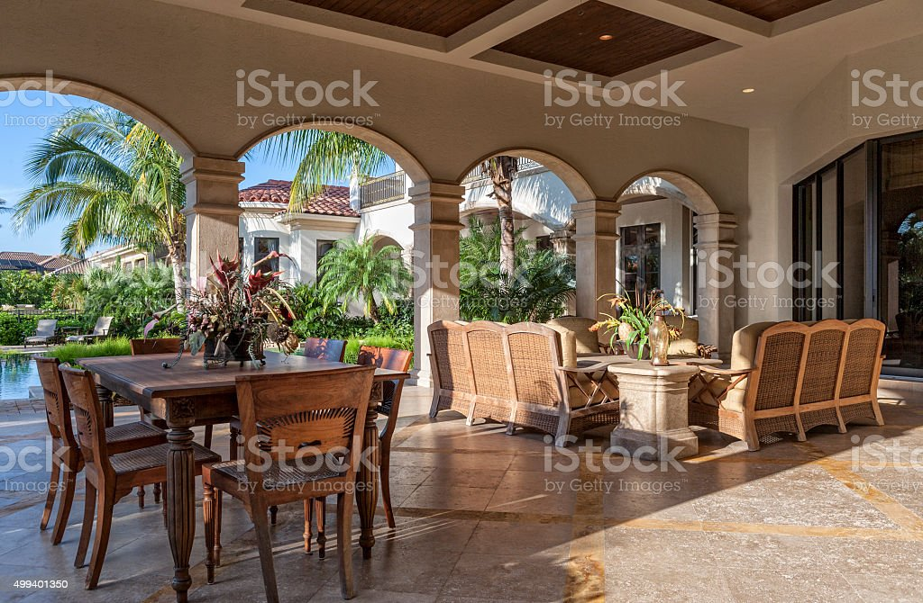 Lanai Living stock photo