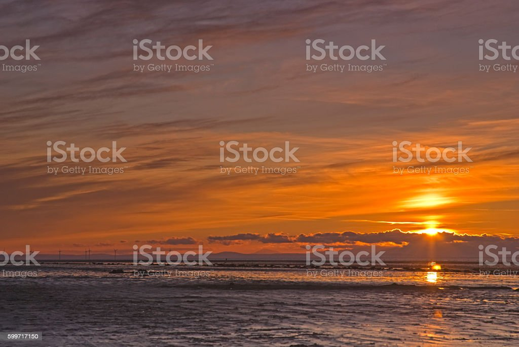 Lancashire Sunset stock photo