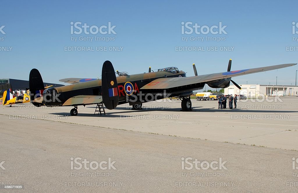 Lancaster Bomber royalty-free stock photo