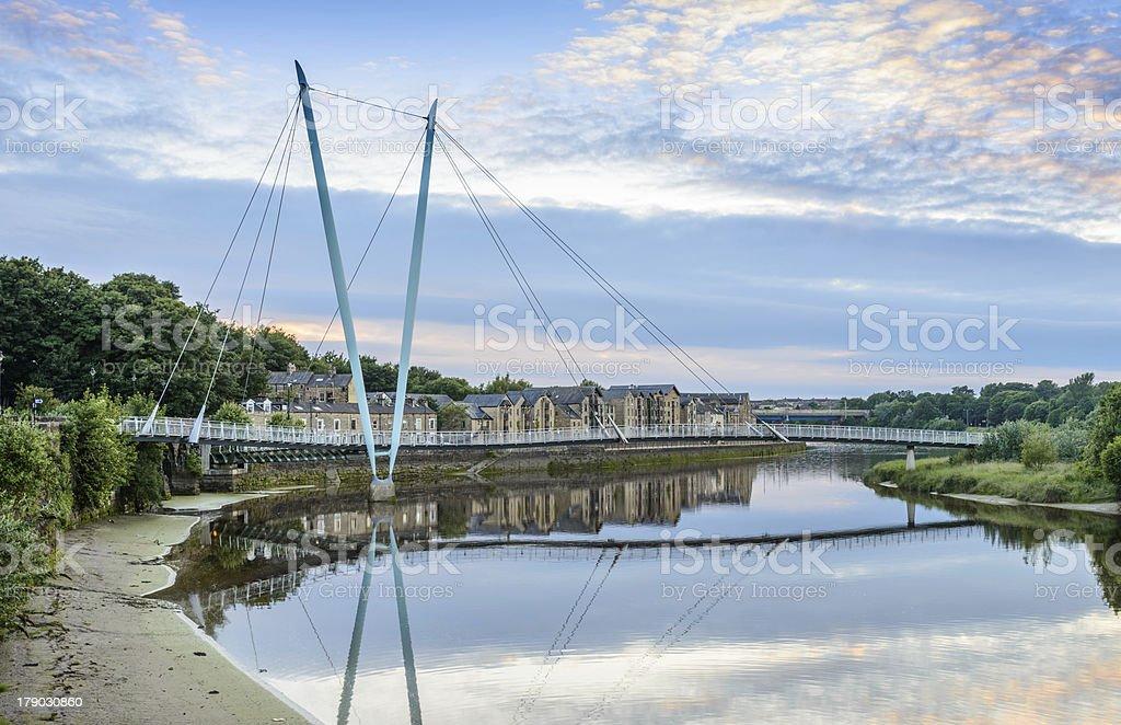 Lancaster Millenium Bridge stock photo