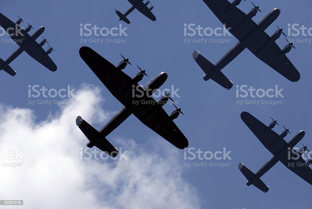 Lancaster Raid stock photo