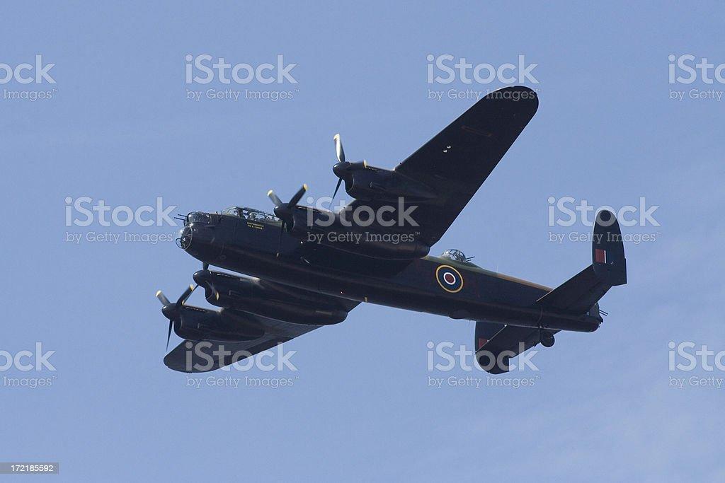 Lancaster second world war aircraft  bomber stock photo