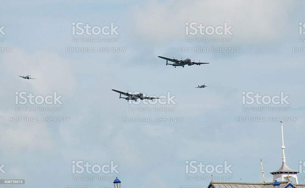 Lancasters over the pier stock photo