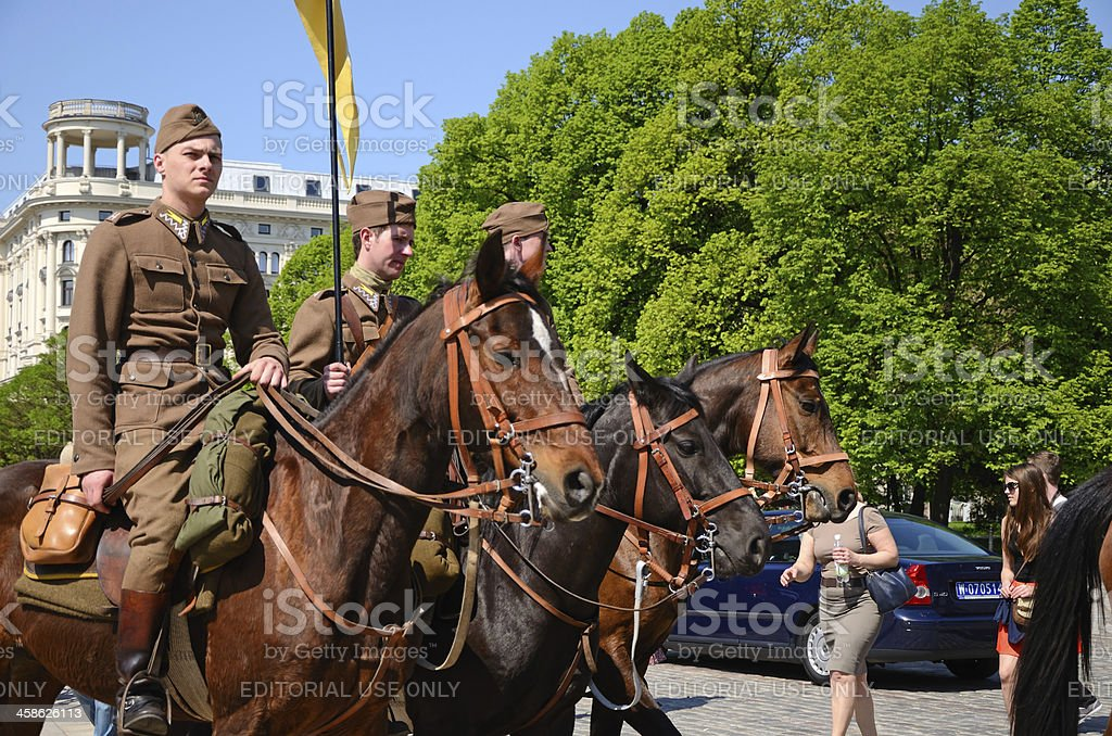 Lancers royalty-free stock photo