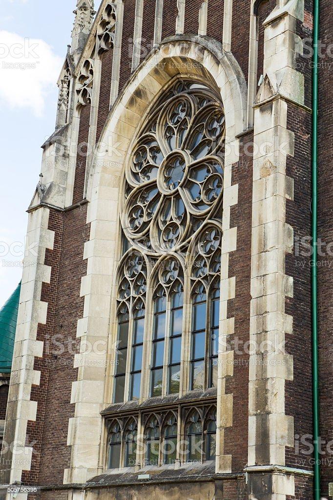 lancet window stock photo