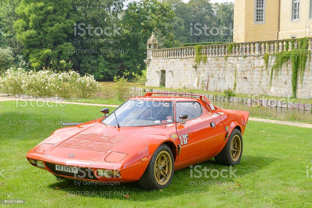 Lancia Stratos HF classic 1970s rally car stock photo