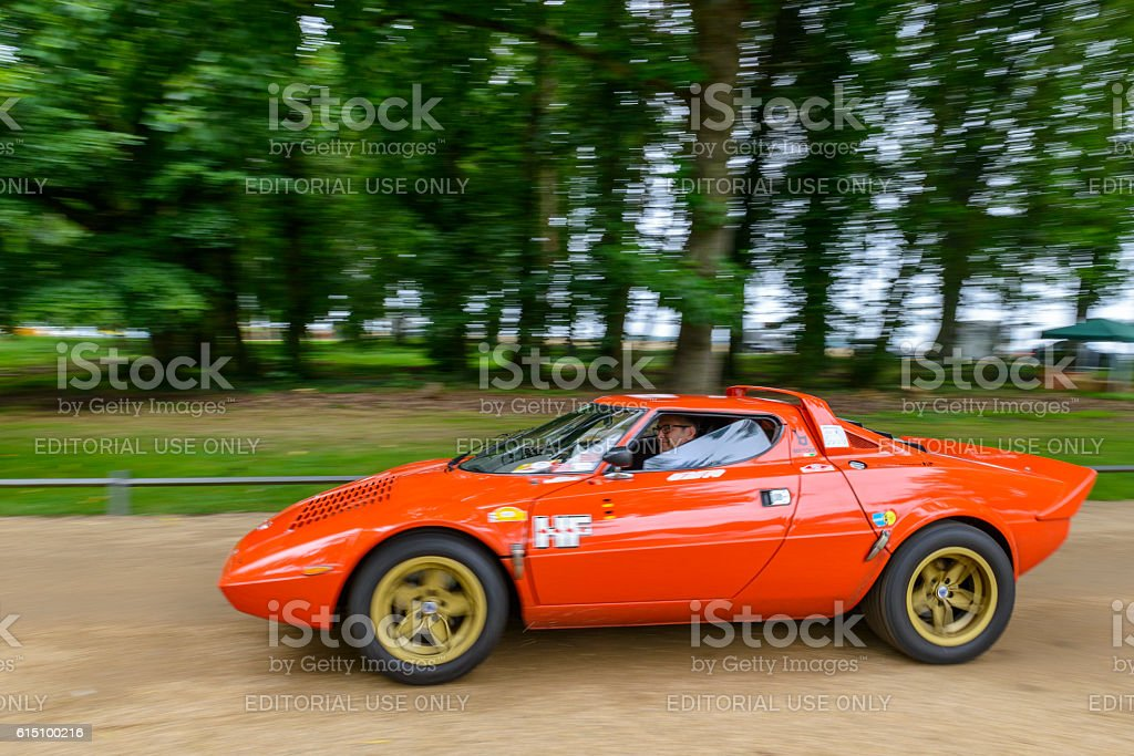 Lancia Stratos HF classic 1970s rally car stock photo