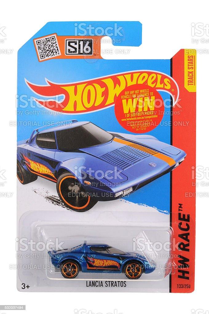 Lancia Stratos Hot Wheels Diecast Toy Car stock photo