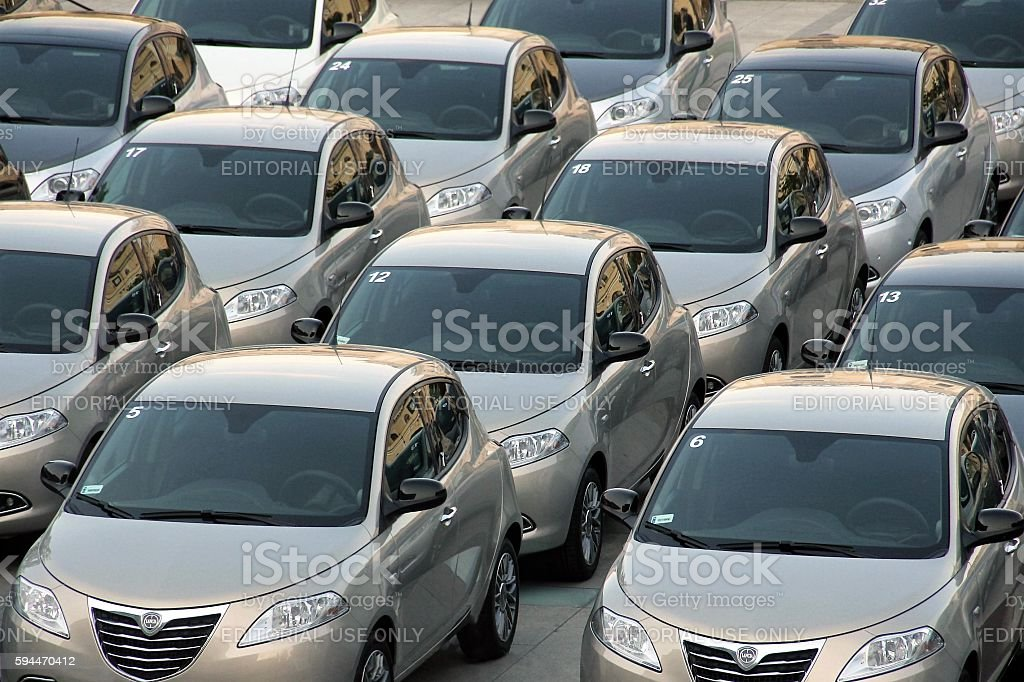 Lancia Ypsilon cars stock photo