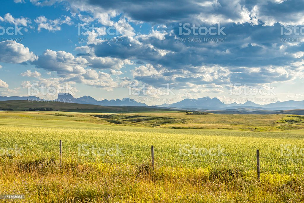 Land against mountains royalty-free stock photo