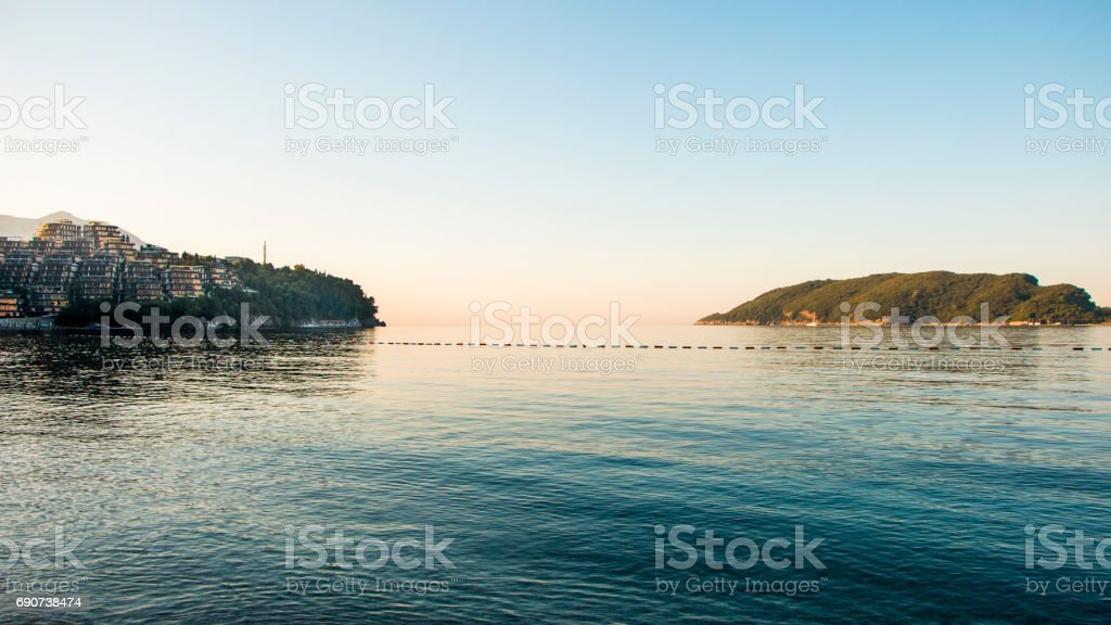 Land and island stock photo