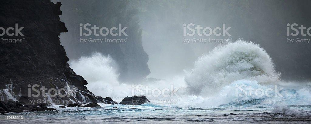 Land and sea. stock photo