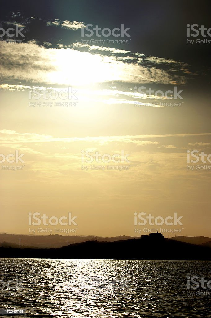 Land and Sky stock photo