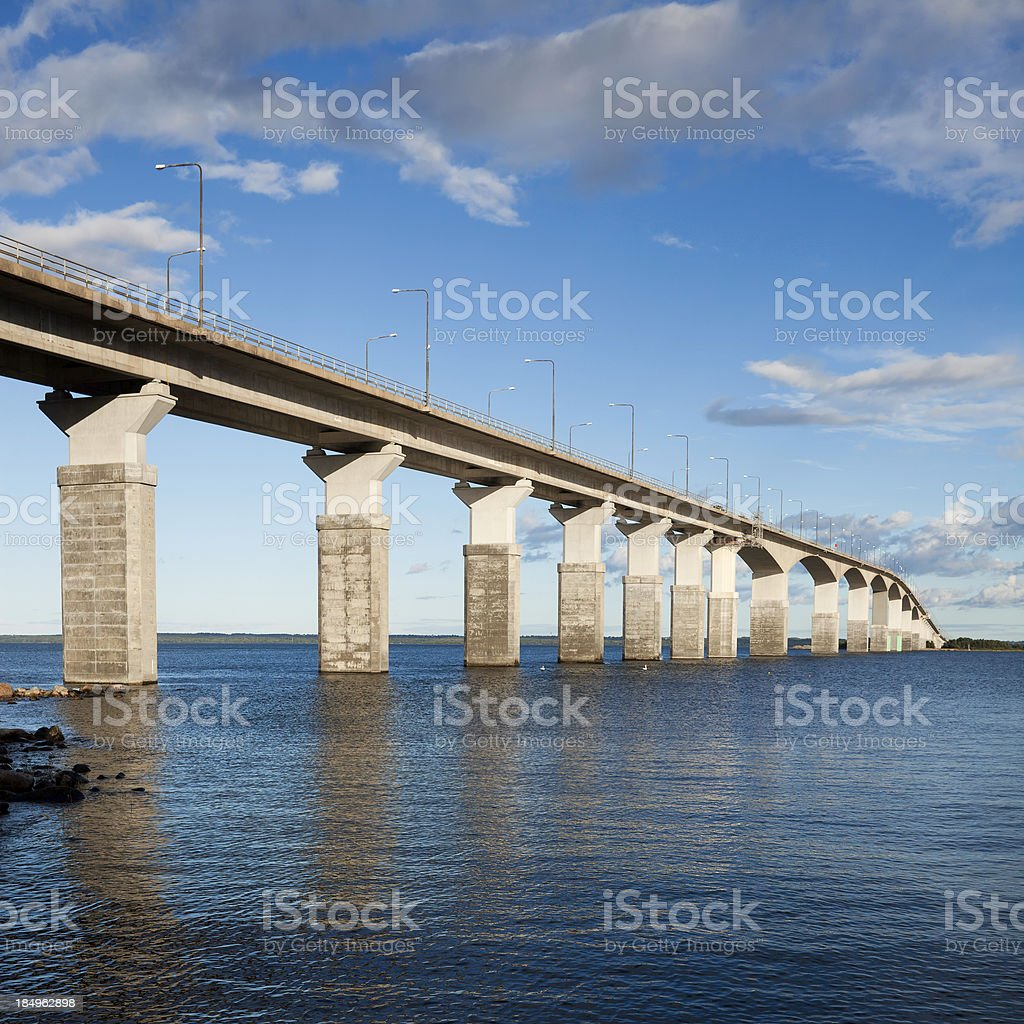 Öland bridge stock photo