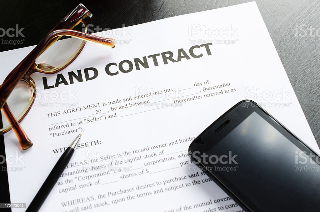 land contract stock photo