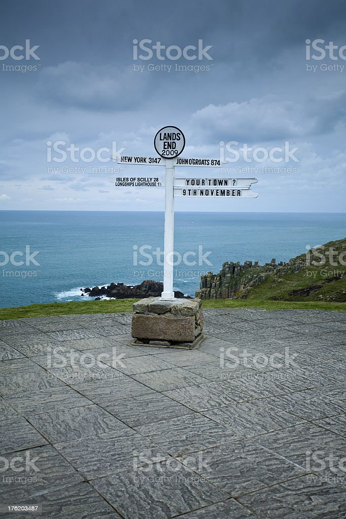 Land End sign stock photo