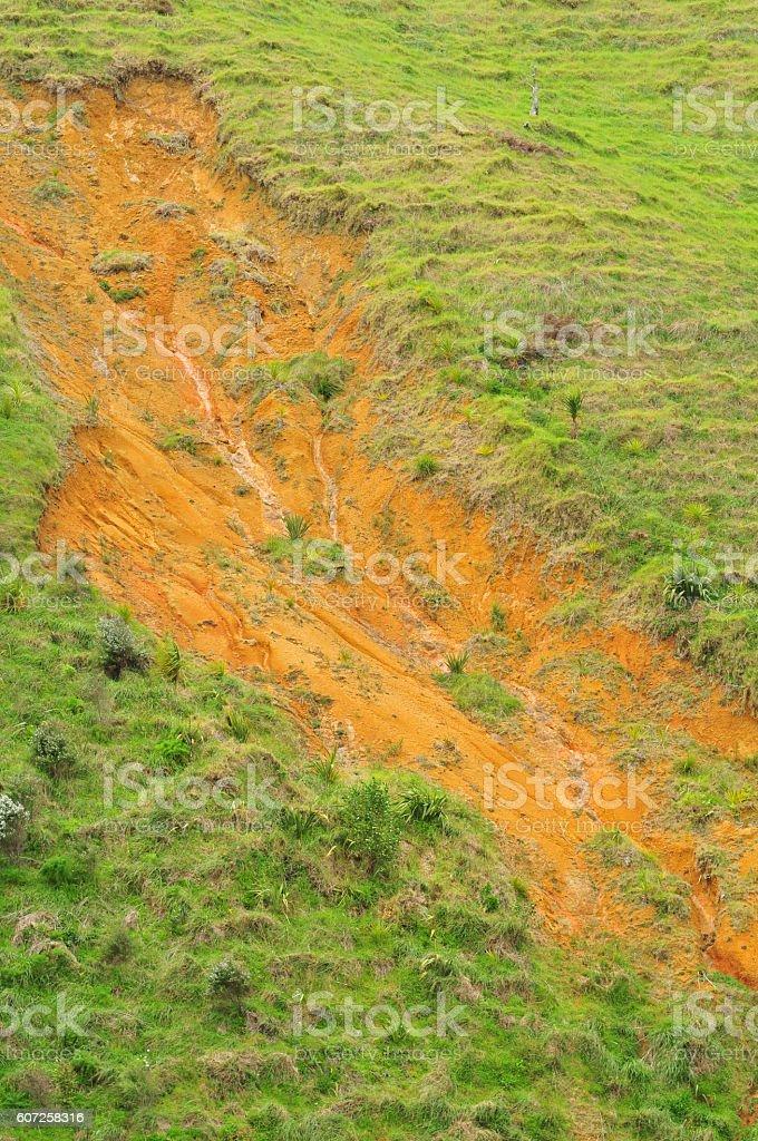 Land erosion stock photo