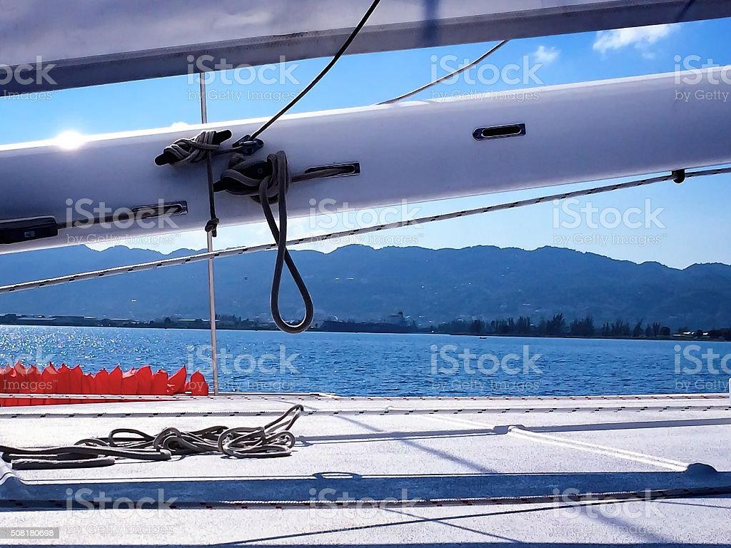 Land in sight stock photo