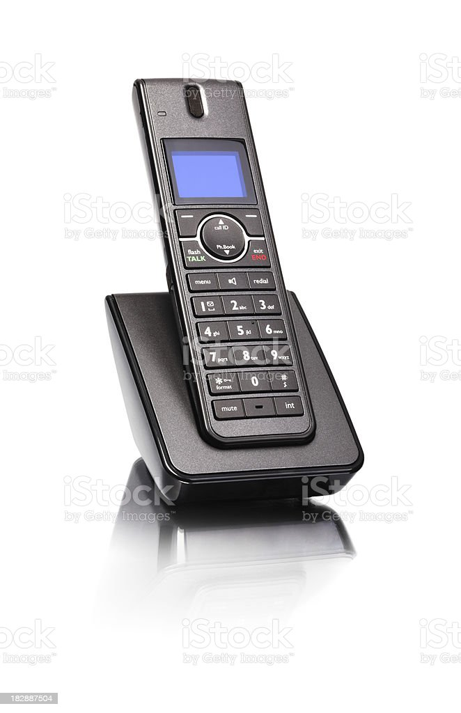 Land line phone stock photo