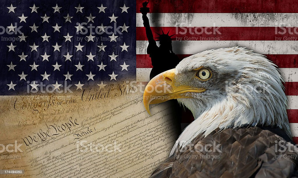 Land of liberty royalty-free stock photo