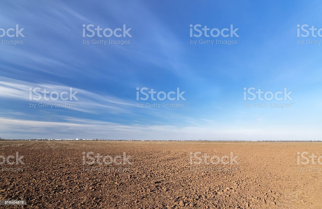 land on the field for planting stock photo