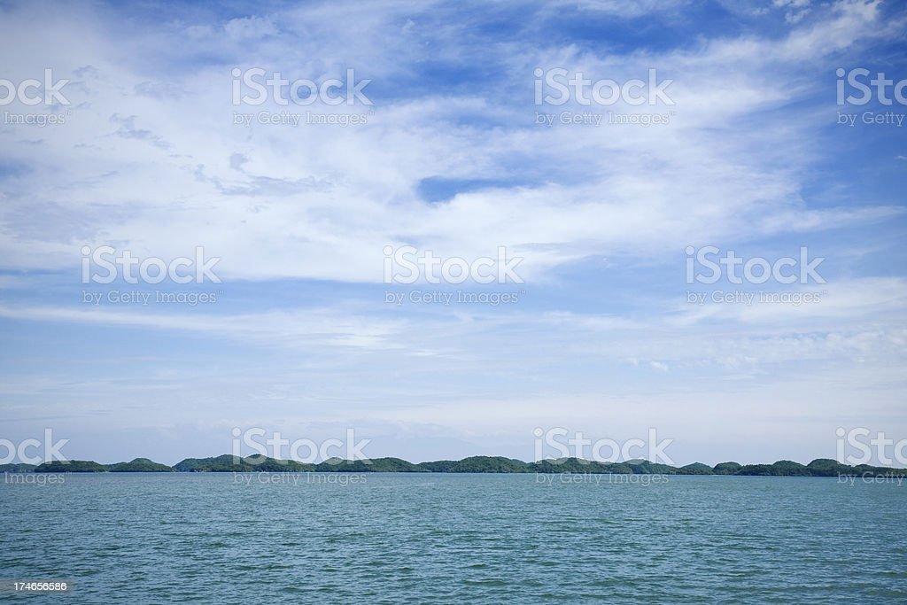 Land on the horizon royalty-free stock photo