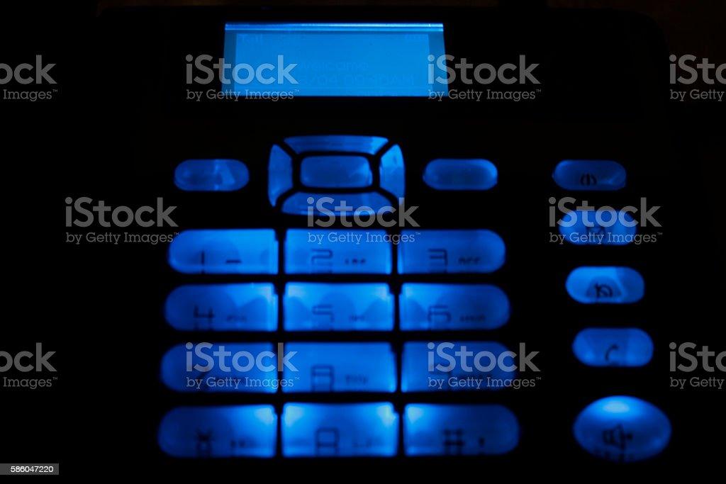CDMA land phone with blue light  - 1 stock photo