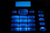 CDMA land phone with blue light  - 1