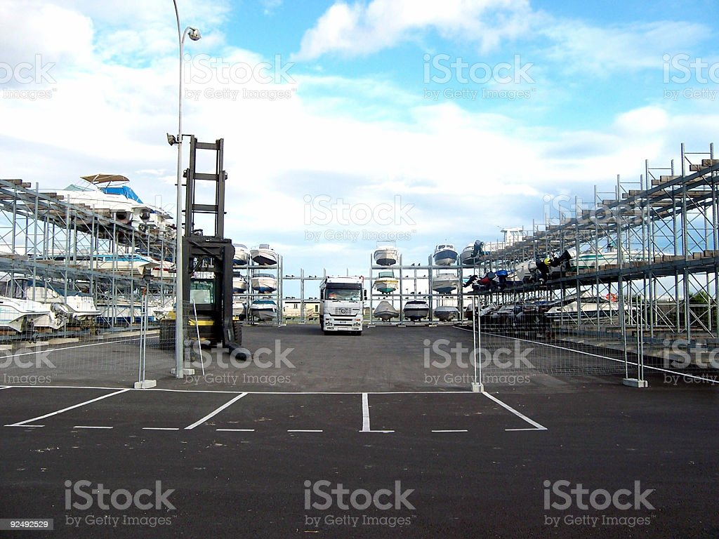 Land Port royalty-free stock photo