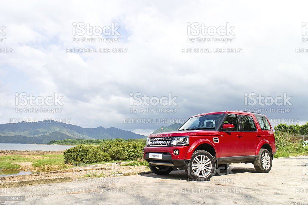 Land Rover Discovery 4 Test Drive on May 13 2014 stock photo