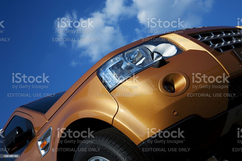 Land Rover Freelander SUV low angle view royalty-free stock photo