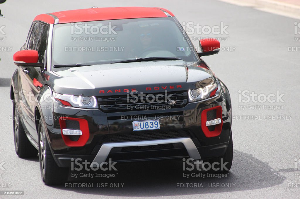Land Rover Range Rover Evoque in Monte-Carlo, Monaco stock photo