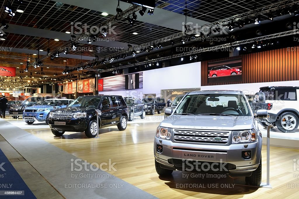 Land Rover stand royalty-free stock photo