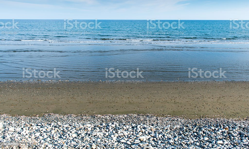 Land Sea and ocean background stock photo