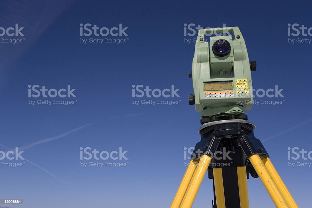 Land Surveying Under Blue Sky royalty-free stock photo