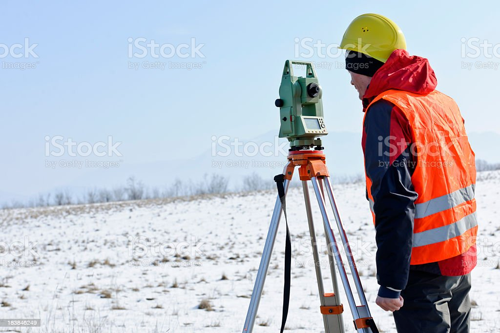 land surveyor royalty-free stock photo
