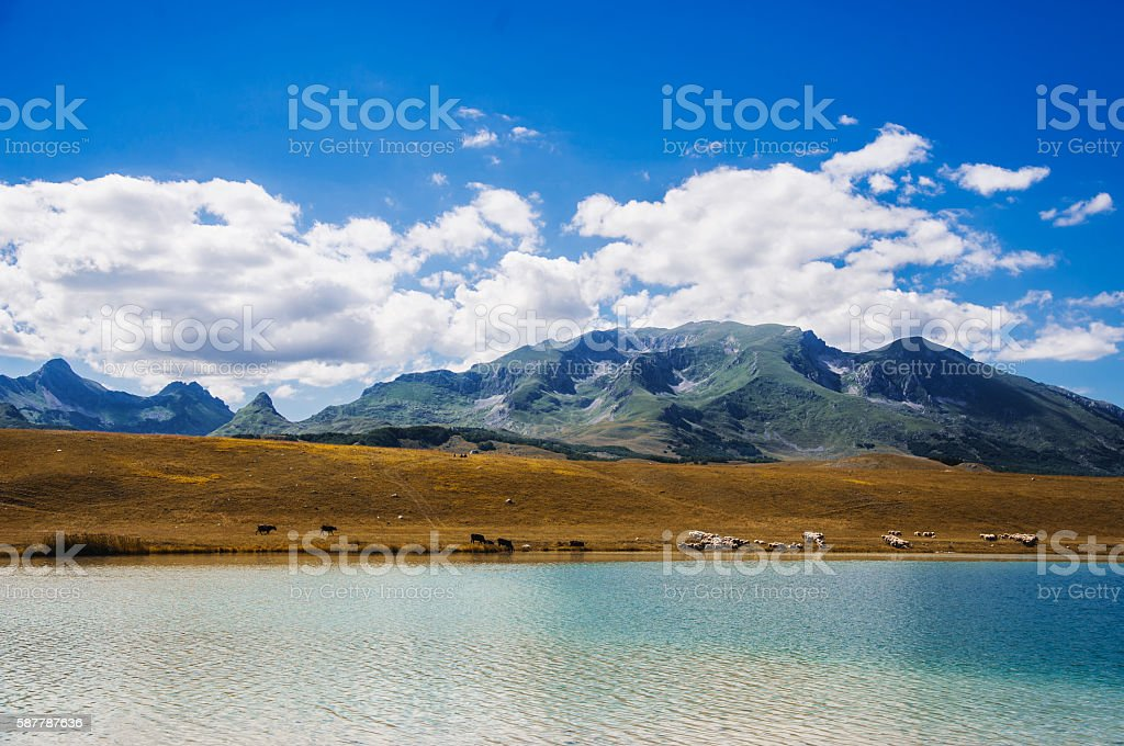 Land, water and sky stock photo