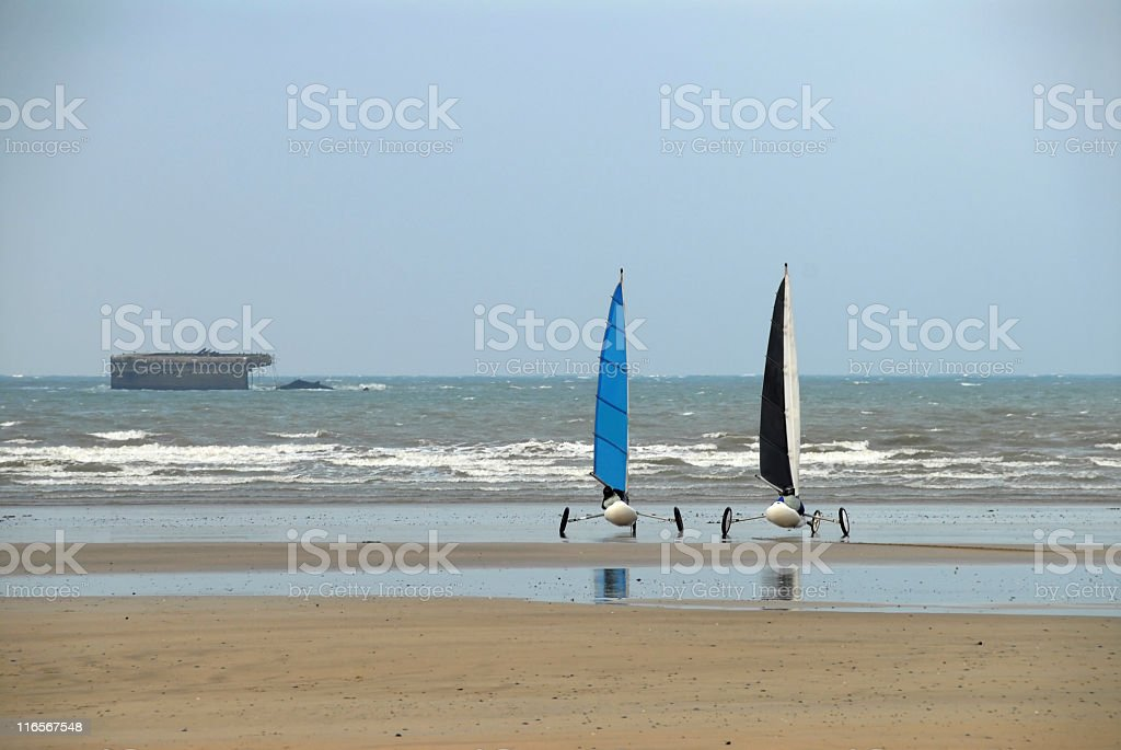 Land yachting royalty-free stock photo