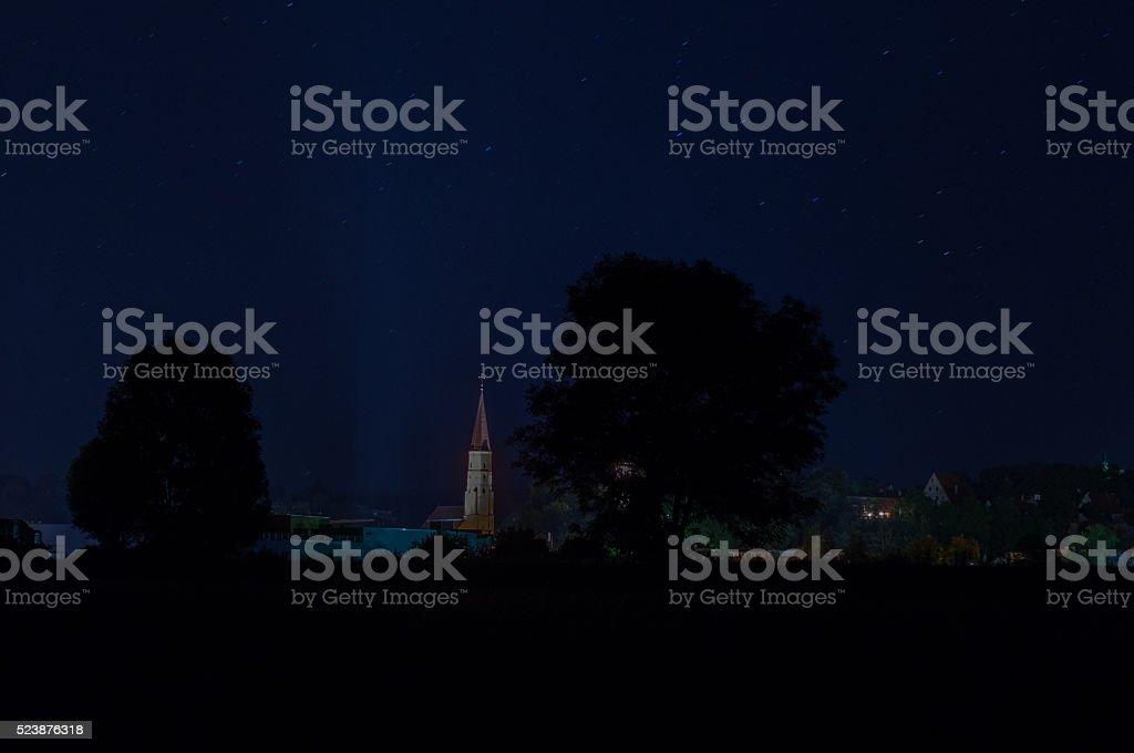 Landau at night stock photo