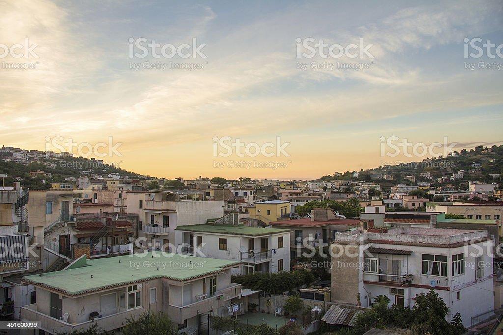 landescape sunset stock photo