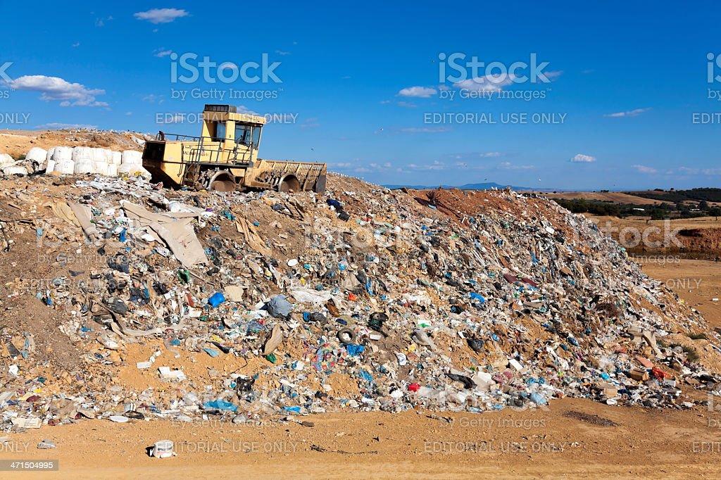 Landfill in Alexandroupolis, Greece royalty-free stock photo