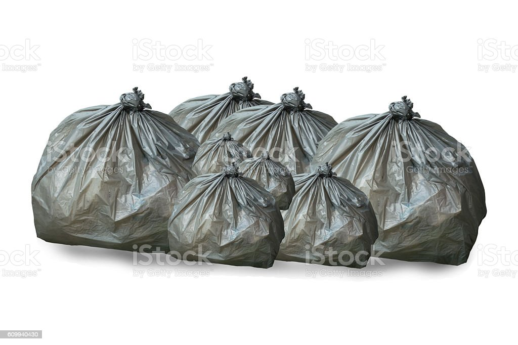 landfill in the city with clipping path. stock photo